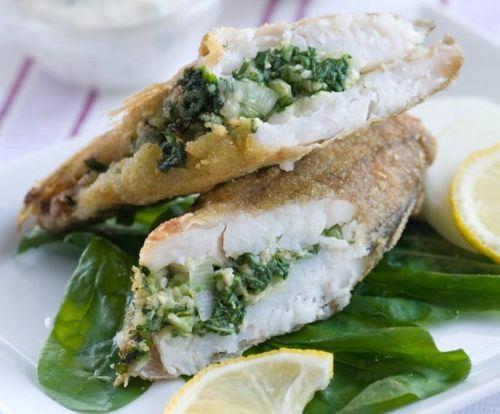 Peşte cu spanac