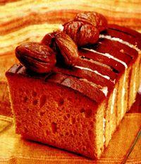 Prăjitură cu castane şi două creme