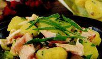 Salata cu somon si ceapa