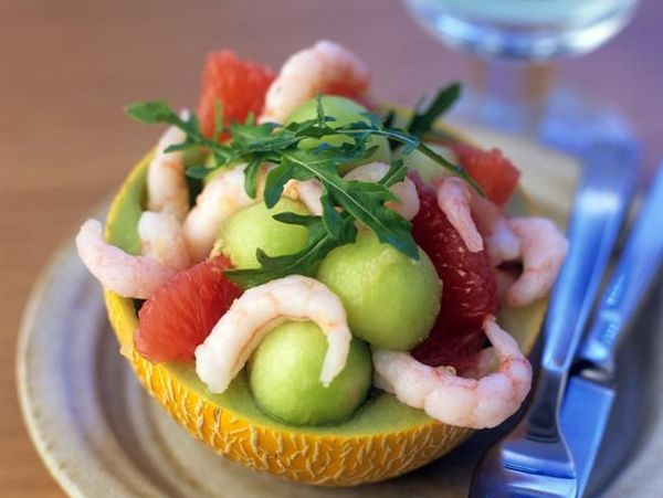Salata de creveti si pepene galben