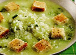 Supa cu orez si usturoi