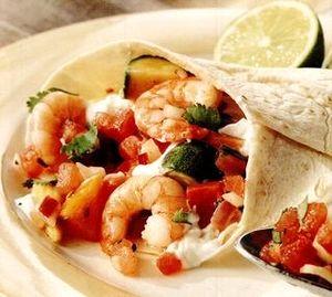 Retete_delicioase_Fajita_de_creveti_cu_salsa