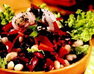 Salata de fasole cu gogosar si masline