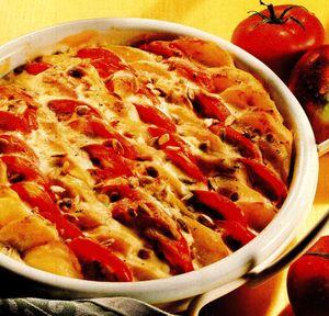 Cartofi cu pasta de rosii