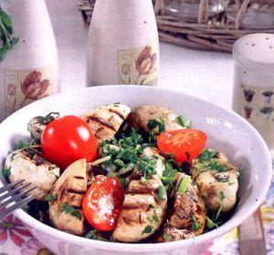 Salata de ciuperci cu verdeturi