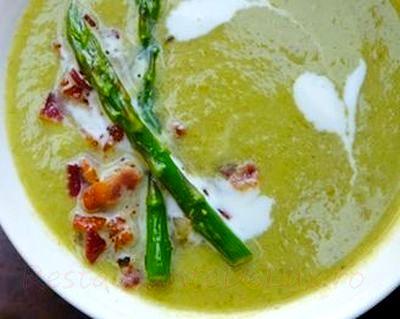 Supa de sparanghle cu smantana