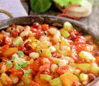 Iahnie de fasole cu legume