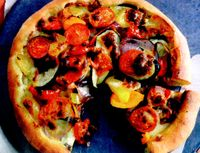 Pizza de legume cu blat de boabe incoltite
