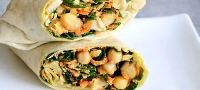 Tortilla cu carne de pui si legume
