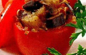 Rosii umplute cu ciuperci, ceapa si orez