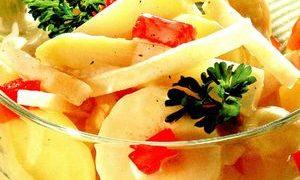 Salata crema de banane cu afine