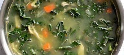 Supa de pui cu salata verde