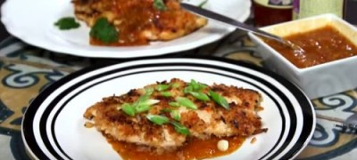 How_to_make_Chicken_Schnitzels_With_Sweet_Chilli_Gravy