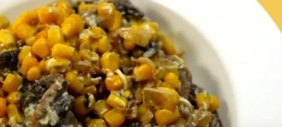 How_to_make_Corn_with_Mushrooms_Salad