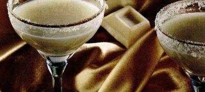 Martini din ciocolata alba