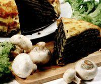 Tort de clatite cu ciuperci si cascaval