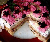 Tort aperitiv cu branza si pate