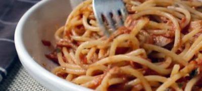 How to make Spaghetti with Spicy Tuna Sauce