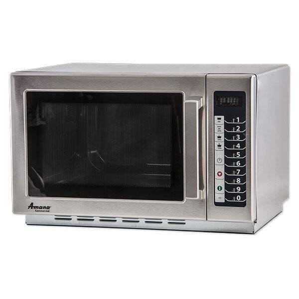 amana commercial microwave oven 1000 watts 1 2 cu ft capacity restaurant equipment solutions