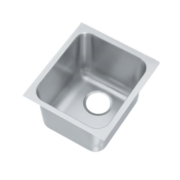 weld in undermount sink one compartment 14 w x 12 d x 9 3 4 deep restaurant equipment solutions