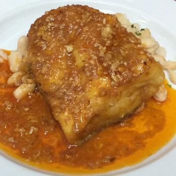 "Cod ""a la llauna"" (fried and baked)"