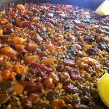 Paella Parellada (without any fishbone or shell)