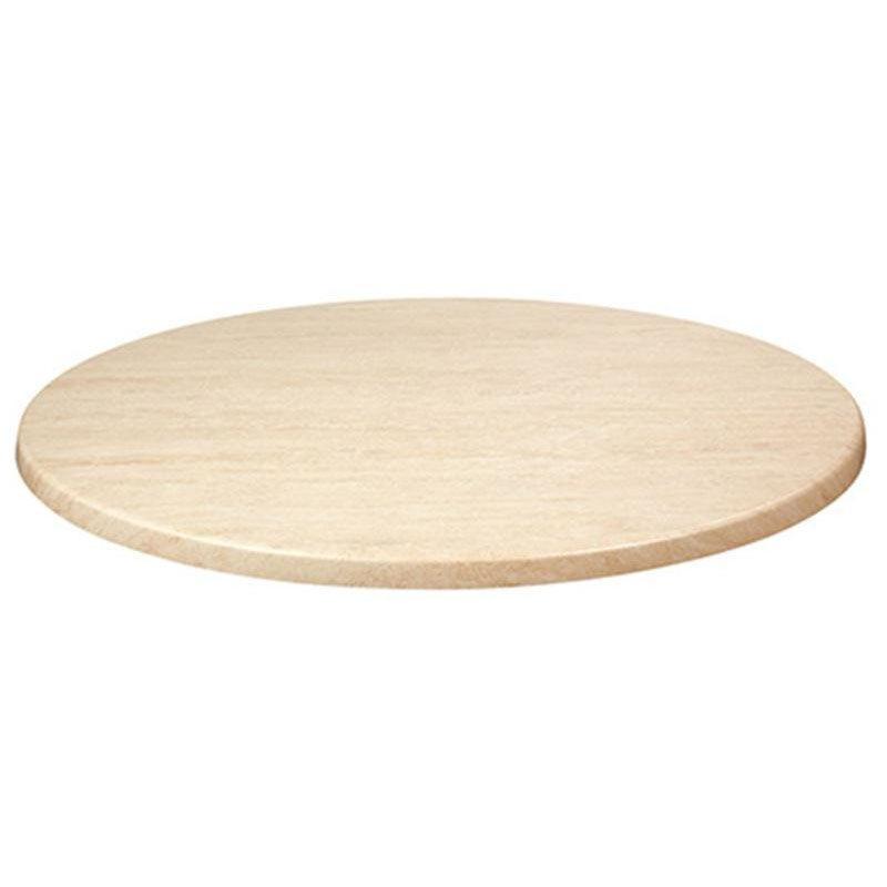 topalit 36 round indoor outdoor table top travertine