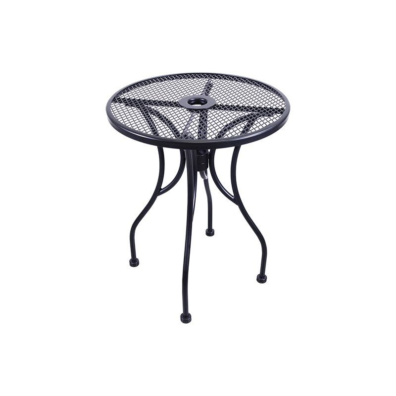 outdoor wrought iron table with 24 round top