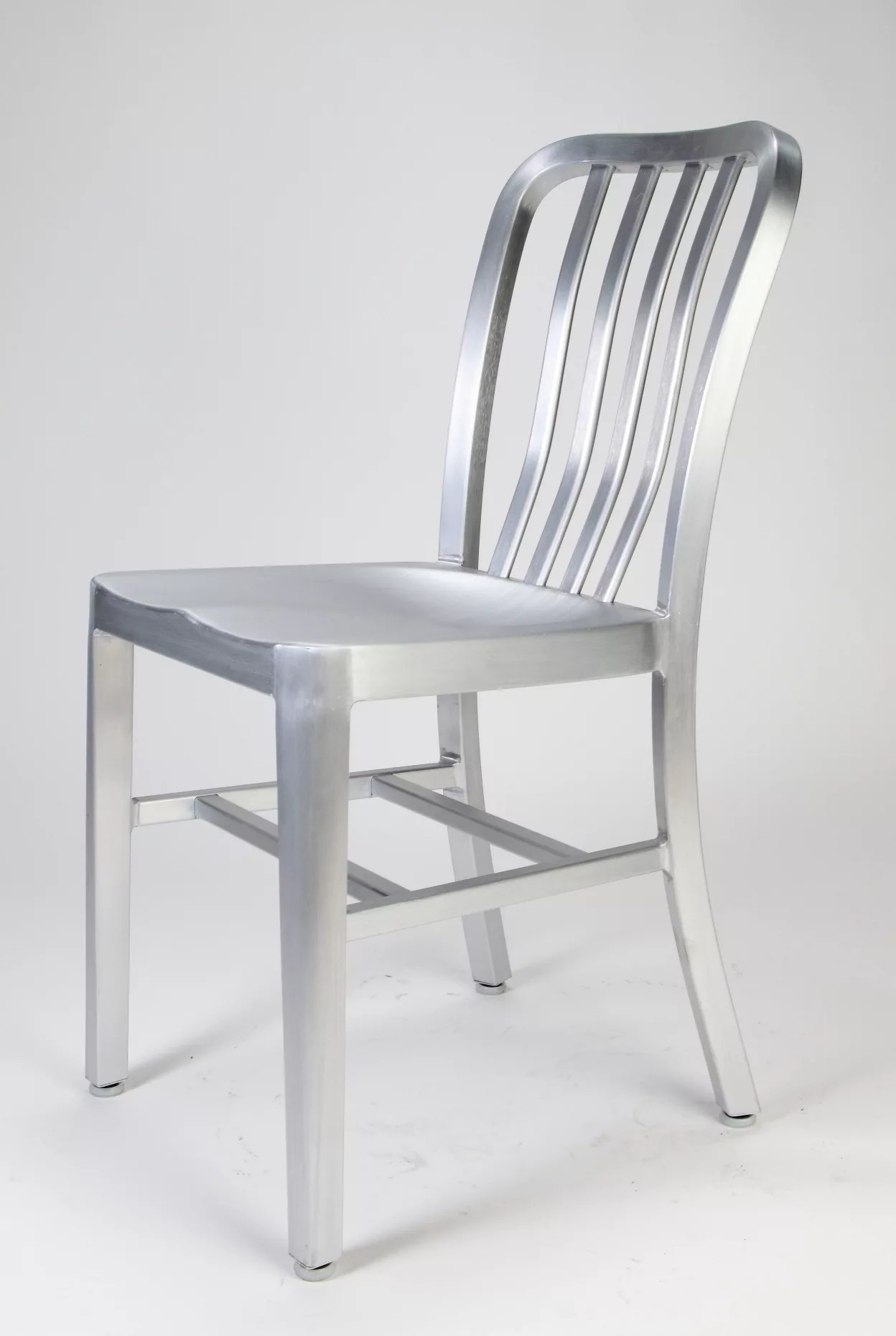 Attirant Home / Shop / Aluminum Dining Chairs / Brushed Aluminum Dining Chair