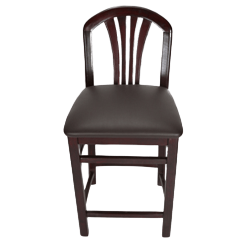Crystal 24″ Counter Stool Mahogany