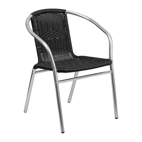 aluminum wicker style arm chair