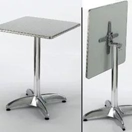 Restaurant Table Aluminum Flip Down Square 30 x 30