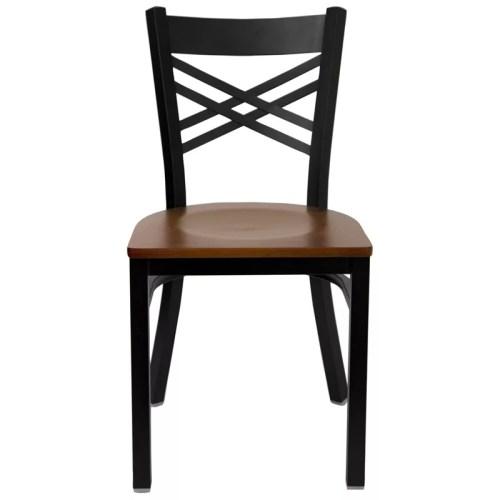 Double-X Metal Black Chair