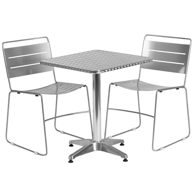 Aluminum Table W Metal Chairs Restaurant Furniture Warehouse - Aluminum table and chairs for restaurant