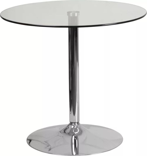 Round Glass Cocktail Table in 31.5""