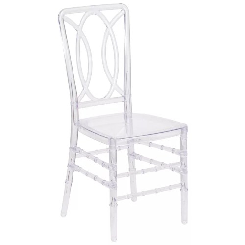 Oval Crystal Stackable Chair