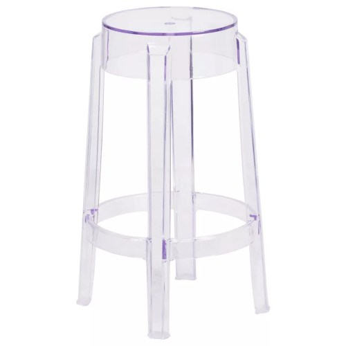 Backless Crystal Finish Stool