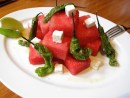 Lure's Watermelon Salad With Crumbled Feta & Shisito Peppers
