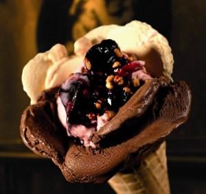 Amorino's signature rose-petaled gelato.
