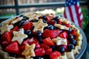 Grilled Red, White and Blueberry Cobbler