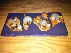Lentil Cracker with Trout Roe
