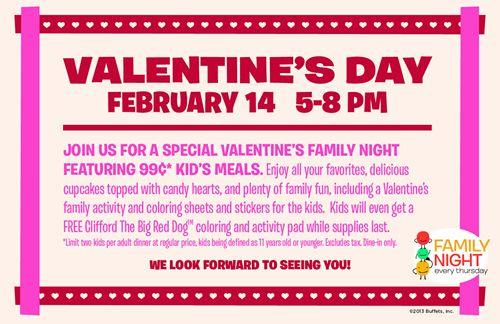 Family Restaurants Valentines Day