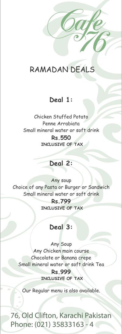 Cafe-76-Ramadan iftar deal