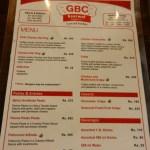 GBC menu