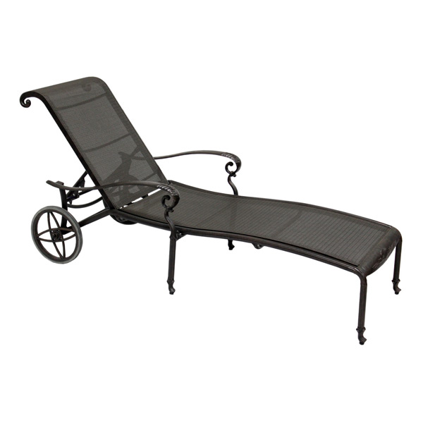 Black Chaise Lounge With Script Fabric Cover Bed