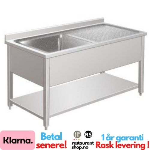 Rustfri Benk - BxDxH=100x70x85cm - Venstre - 90002121
