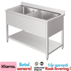 Rustfri Benk - BxDxH=120x70x85cm - 2 kummer - 90002126