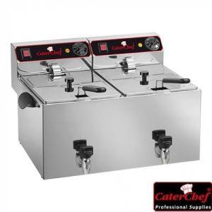 Frityr 2X9 Liter - 2X3250W - CaterChef