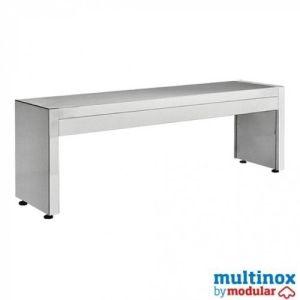 Rustfri hyllestativ – L 120 – 1 nivå - Multinox