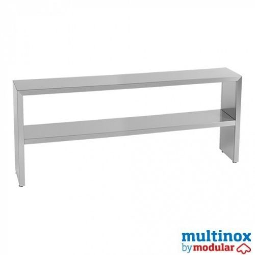 Rustfri hyllestativ – L 180 – 2 nivå - Multinox